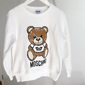 Дети Дизайнер Толстовка Роскошный Медведь Pattern Девушки Пуловеры Активные Мальчики Толстовки Бренд Детская Одежда 2020 Новая Детская Одежда Оптовая