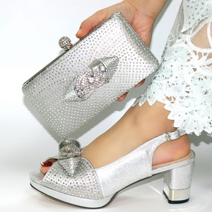 doershow beautiful Italian Matching Shoes And Bag Set African Style Ladies Shoes And Bag To Match For Wedding Dress!HIM1-22