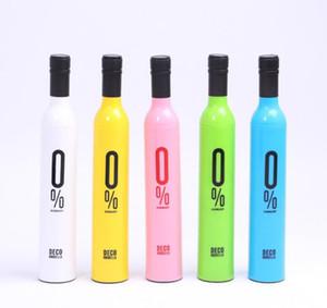 Diseño personalizado Paraguas de lluvia clara Botella de vino creativa Florero Paraguas Botella de vino personalizada
