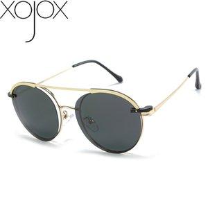 XojoX Sunglasses Men Polarized Magnetic Cover Clip on Sun Glasses Women Fashion Metal Oval Optical Eyeglasses UV400 Goggles