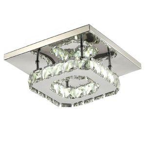 Moderna Lampada da soffitto a LED Piazza cristallo Luster Luminarias Para Sala lampade a LED per impianti da cucina a casa corridoio corridoio balcone