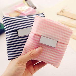 Cute Lady Grocery Foldable Bag Square Shopping Storage Reusable Eco-friendly Tote Bag Handbag TP899