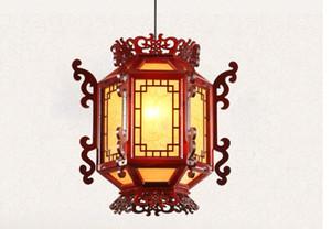 luz pendant chinesa antiga carneiro Lanterna Wood Hotel Hotel Varanda Restaurante Retro Lamps Tribunal pingente Lâmpadas LLFA