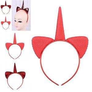 Русалка блестки обруч волос двухсторонний единорог моделирование головы обручи красный рождественские украшения головы пряжки новое поступление 2 8sj L1