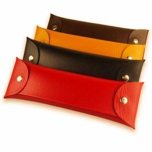 Multi Function Pen Bag Rectangle PU Leather Pencil Bags Foldable Double Buckle Pencils Case High Quality 1 5hb B