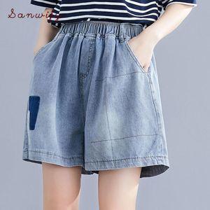 Yourseason 2020 Summer Casual талии шорты Сыпучие Карманы Женщины Denim Short брюки плюс размер