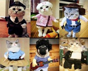 재미 할로윈 애완 동물의 다양한 캐릭터 모양 변형 옷의 변형 정장 똑바로 옷 고양이 개 옷 테디 창조적 인 천