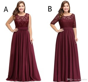 Plus Size Modest Chiffon Bridesmaid Dresses A Line Scoop Neck Sleeveless Evening Prom Gowns Formal Party Wear CPS526