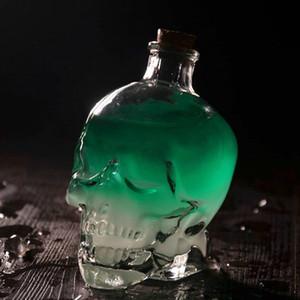 1Pcs хрустального черепа Выстрел в голову стекла партии Прозрачный Шампанское Коктейли Пиво Кофе бутылки вина Обреченные инструменты Drinkware Бар