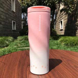 500мл Starbucks Vacuum Cup Спирали Relief кубок Пурпурного Dazzle гальванического Gradient 304 из нержавеющей стали термос Кубка бутылка воды