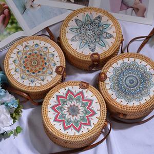 Kadınlar için Lovevook saman torbaları seyahat crossbody bayanlar için çanta bambu ve rattan çanta Bohemya yaz plaj dokuma roung