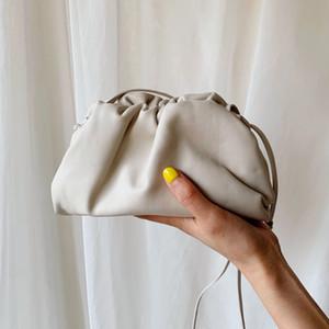 Kılıfı Deri Zarf Çanta Lüks Omuz Çantaları Kadınlar Tasarımcı Voluminous Yuvarlak Çantalar ve Çanta Dumpling Kavramalar