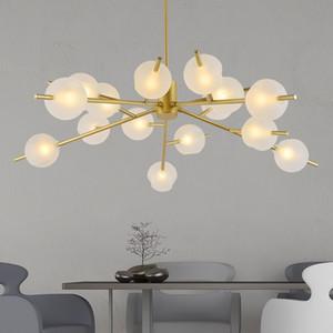 LED-Lüster loft Deko Leuchten Glas Suspension Leuchten Nordic Hängeleuchten Schlafzimmerbeleuchtung Wohnzimmer Hängelampen