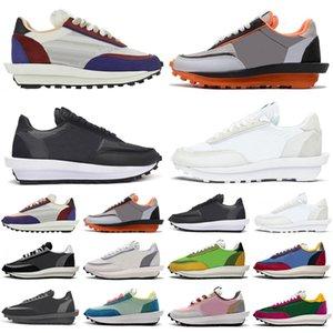 sacai x Nike LDWaffle LDV Waffle Racer 2020 lüks tasarımcı koşu ayakkabı erkekler kadınlar Siyah Beyaz çam Yeşil Gusto Varsity Mavi erkek eğitmenler sneakers