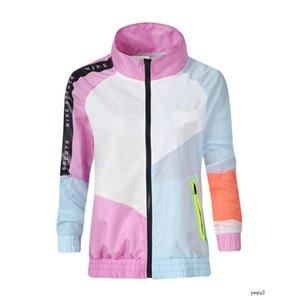 nike NIKE NK Спортивная одежда с капюшоном на молнии Спорт пальто женщин способа конструктора куртки с длинным рукавом Щитовые Color Coat Spring Autumn проектировщиком