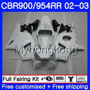 Corps pour HONDA CBR900RR CBR 954 RR CBR900 RR CBR954 RR 280HM.12 Cadre blanc brillant CBR 900RR CBR954RR 02 03 CBR 954RR 2002 2003 Kit carénage