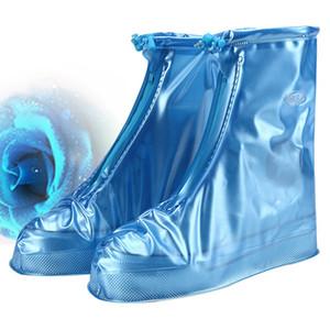 Alta-Top antiderrapante chuva Sapatos Casos DH0886 T03 Atacado Outdoor Protector Waterproof Shoes Bota Tampa Unisex Zipper Chuva sapato cobre