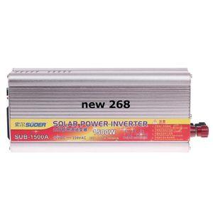 Freeshipping SUOER SUB-1500A 1500W DC 12V a AC 220V Inversor de energía solar con puerto USB - Plateado