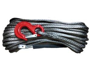 Buona qualità 8 x 30m sintetica dell'argano corda con il gancio, corda di rimorchio dell'automobile, Spectra Corda, Winch Linea, Winch sintetico