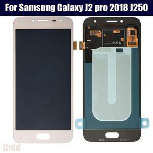 Para Samsung Galaxy J2 pro 2018 J250 J250F pantalla LCD y digitalizador de pantalla táctil de montaje Gran Primer Pro LCD ajustar el brillo