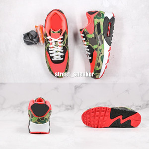 2020 90s hombres corriendo zapatos de diseño Atmos 90 inversa Pato rojo de Camo de las zapatillas de deporte 90 Zapatos deportivos clásicos Formadores Chaussures
