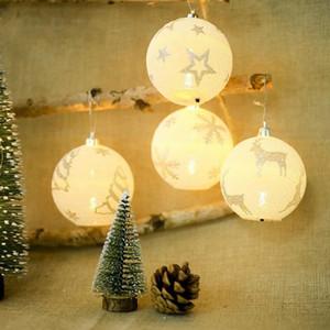 Moda Noel Ağacı Topu Yaratıcı Noel Aydınlatma Topu kolye Kar Çiçek Ağacı Printted Dekorasyon Topu Homeroom Parti Dekorasyon WY105