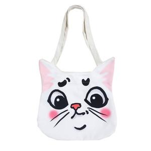 Fresca pequeña bolsa de mano Mujeres Personalidad Animal de la historieta bolsas de un hombro lindo gato cerdo bolso ocasional Dog Fashion Tote Mujer