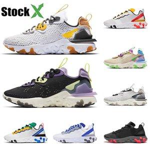 nike air epic react element 55 87 koşu ayakkabıları üçlü beyaz siyah Oyunu Kraliyet Yelken Yeşim ışık nefes spor ayakkabı maxes 45