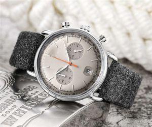 montres pour hommes de luxe de la mode Top marque chronomètre ar 42mm composer tous les sous-cadrans de travail montre pour Montres-bracelets cadeaux Saint-Valentin dropshipping hommes
