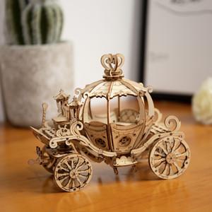 Robotime Tooden Puzle Diy Construction Set Brain Teaser, Model Building Kit Toy Gift for Kids Y200414