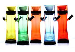 12.2inches Akrilik Uzaktan Set seç nargile Sigara Filtresi Arap Nargile 5 Renkler Sigara Gece aydınlatması LED Cam Su Borular Kontrollü
