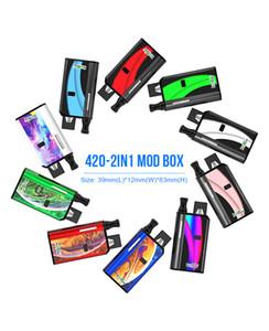 Uyumlu Pod 510 Kartuşları DHL için 2020 Orijinal Kangvape 420 2in1 Kutu Mod Takımı 650mAh Öncesi ısı VV Değişken Gerilim 2 1 Pil