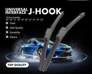 "Car Wiper Blade Universal J Hook Type 14""16""17""18""19""20""21""22""24""26"" Windscreen Windshield Rubber Hybrid Auto Wipers Accessories"