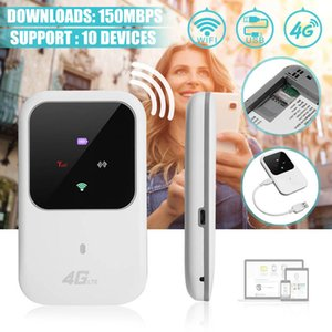 Hotspot Portátil 4G LTE Wireless Mobile Router Wifi Modem 150Mbps 2.4G WiFi Caixa de dados Terminal WiFi para carro Home Mobile