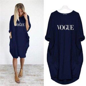 Abiti estate delle donne Lettera Hedgehog Marca Stampa Loose Women Stilisti più il formato del mini vestito casuale Mujer Fashion