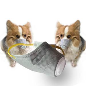 Pm2. 5 pet köpek maskeleri toz ve antibakteriyel maske Anti-Pus için Köpekler İçin açık Seyahat Pet koruyucu malzemeleri