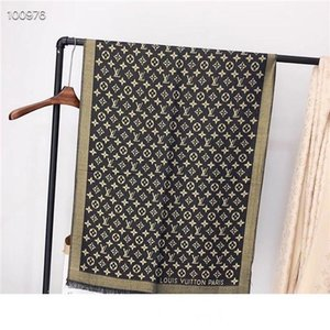 2020 women mens gold Designer silver thread Scarf silk and cotton scarf long shawl Printed classic For four seasons Add handbag Best