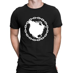 North America In Chains Tshirts Classical Quirky Costume Summer T Shirt For Men Family Character S-3xl Anlarach Famous