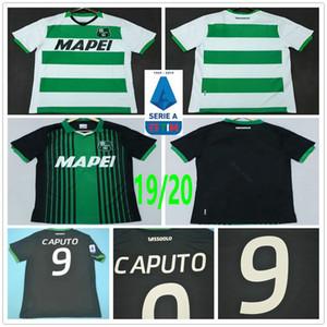 2019 2020 Sassuolo Football Maillots 9 CAPUTO 25 BERARDI LOCATELLI MARLON personnalisé Domicile Extérieur Noir Blanc Sassuolo Calcio SRL football shirt