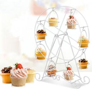 Criativo DIY Baking 8 copos Rotating Ferris Wheel bolo Stand Holder Ferramentas Pastelaria casamento Decoração da cozinha
