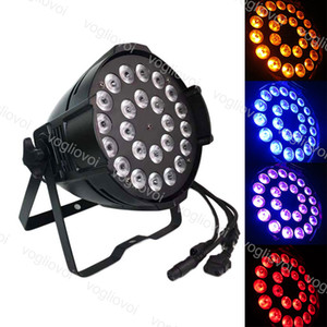 Par Light 280W 24x10w RGBW-Strahllampe 8CH DMX512 Sprachaktivierte IP20-DJ-Ausrüstung für Bühnenbeleuchtung Weihnachtsparteieffekt DHL