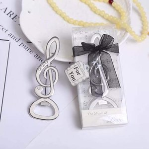 2018 lastest fashion new alloy metal classic music note bottle opener summer on beach for Wedding Party favor decor Gift LX1788