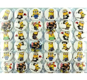 2set / (96pcs) Minion Cartoon figura Bottoni Spille 45mm rotondi Spilla Abbigliamento / Borse accessorio del partito del capretto del regalo di favore di gioielli