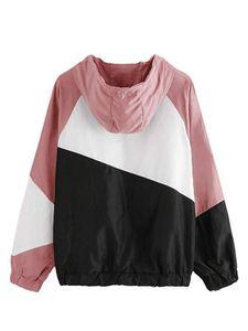 Rush Guardia Summer Beach giacca sportiva casuale Donne Patchwork Primavera Giacca a vento con cappuccio Giacche