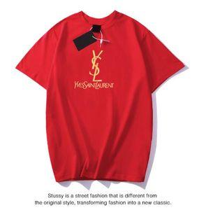 de Unisex Men marca Casual T Shirt Designer Women T-shirts de manga curta com letras Homens Camiseta gola Mulheres Tops Roupa M-3XL