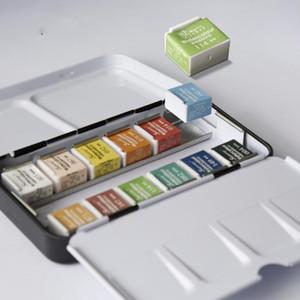 12/24/36/48 Couleurs pigment solide Aquarelle Peinture Set Paintbrush Aquarelle Pigment Set Fournitures d'art