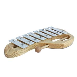 El Ki Tokmaklar 8 Tonluk Alüminyum Levha Ahşap Müzik Aletleri Okul Öncesi Eğitim Toy ile Ksilofonlar Glockenspiel''i Knock