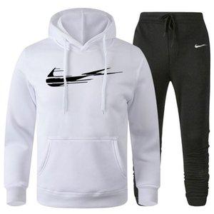 Solid Color Tracksuits Men Sets Spring Autumn Hoodies Sportswear Set Casual Men 2 Pieces Set Slim Fit Hoodies+Pants Sports Suits 3XL