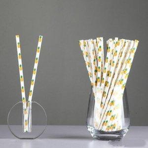 Papel Beber papel Straw biodegradável palhas partido do evento feriados havaiano Sticks KTV potável 25pcs palhas multi cor / lot LXL826-1