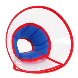 Protection du cou transparent de chat de chien Couverture de protection Cône Wound Healing Collier pour chien intelligent cône Prévenir collier Bite